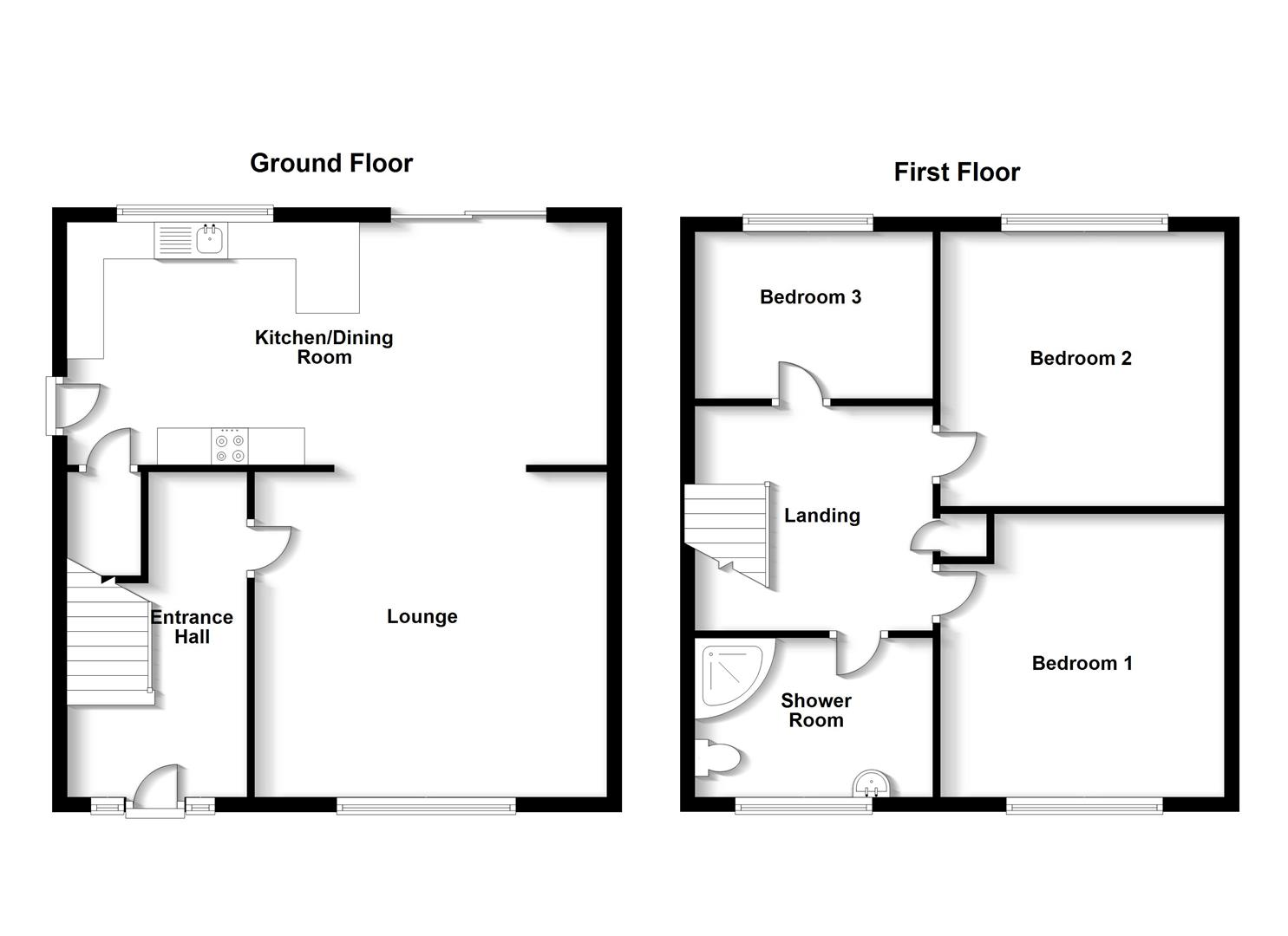 Floorplans For Wordsworth Road, Shakespeare Garden, Rugby
